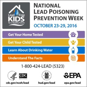 Poster for Lead Poisoning Prevention Week