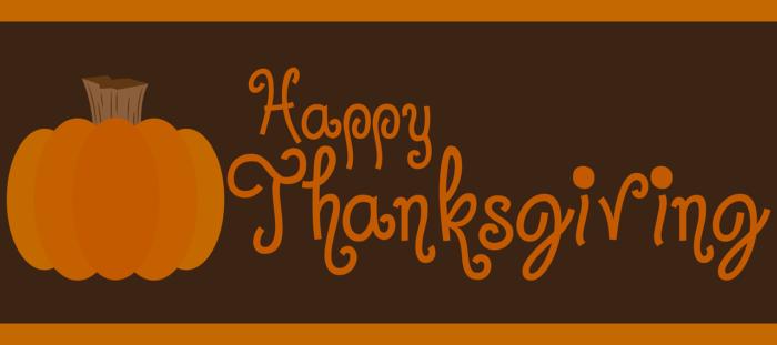 Pumpkin happy thanksgiving banner.